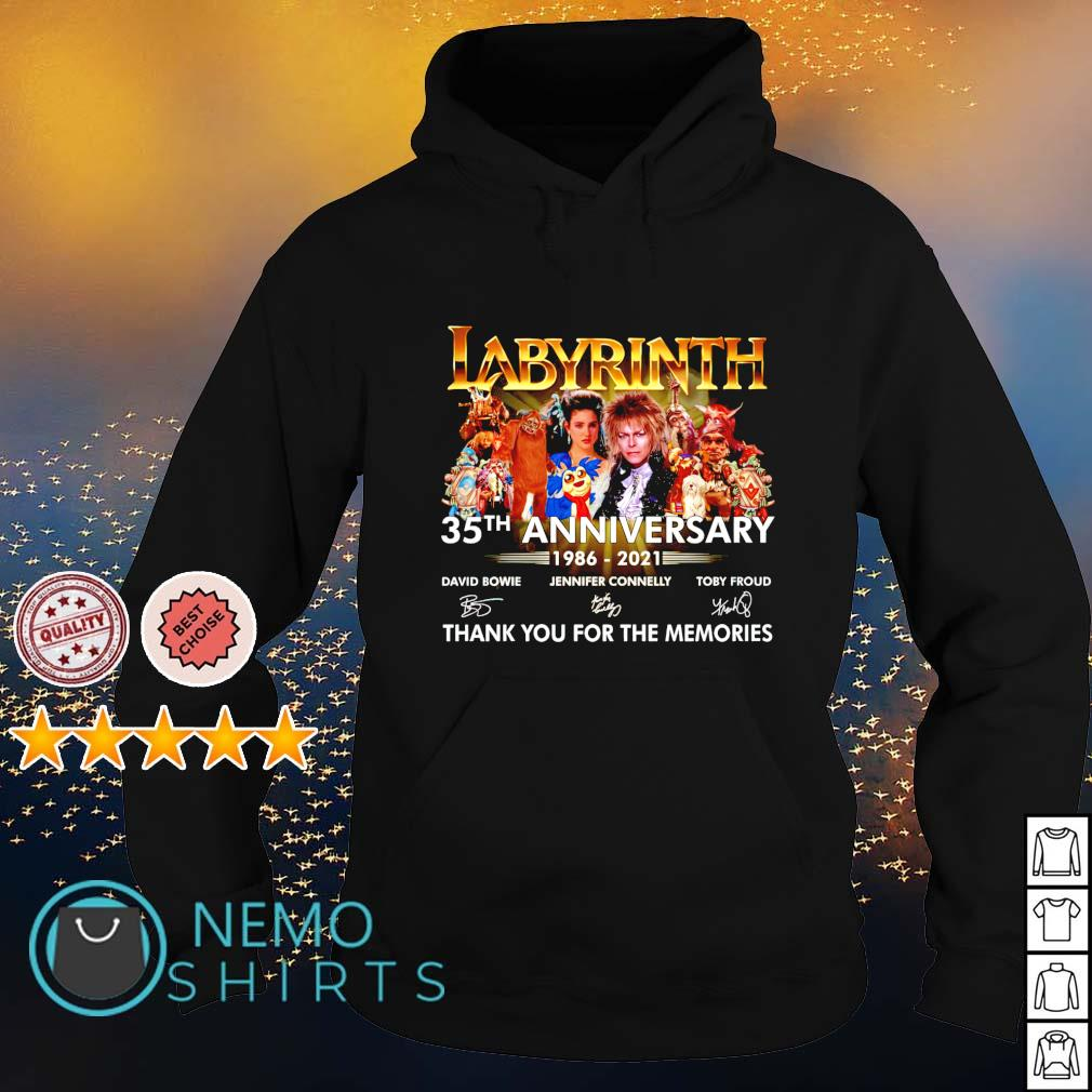 Labyrinth 35th Anniversary 1986 2021 thank you for the memories s hoodie