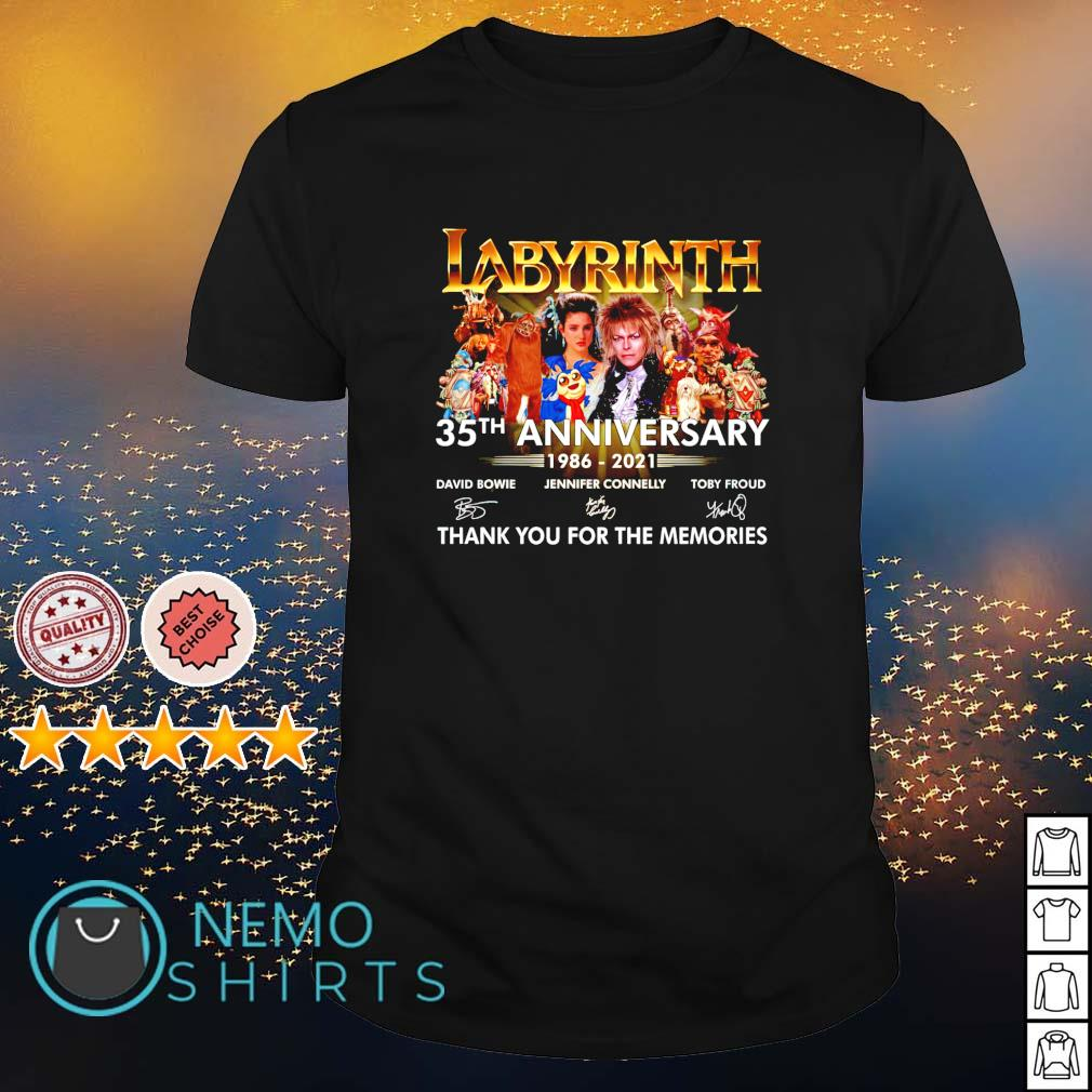 Labyrinth 35th Anniversary 1986 2021 thank you for the memories shirt