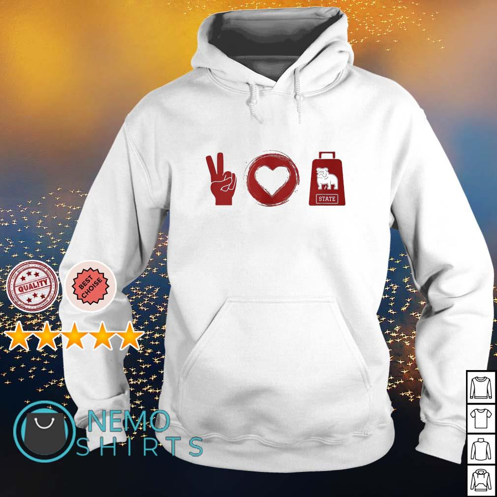 Peace love Mississippi State Bulldogs s hoodie