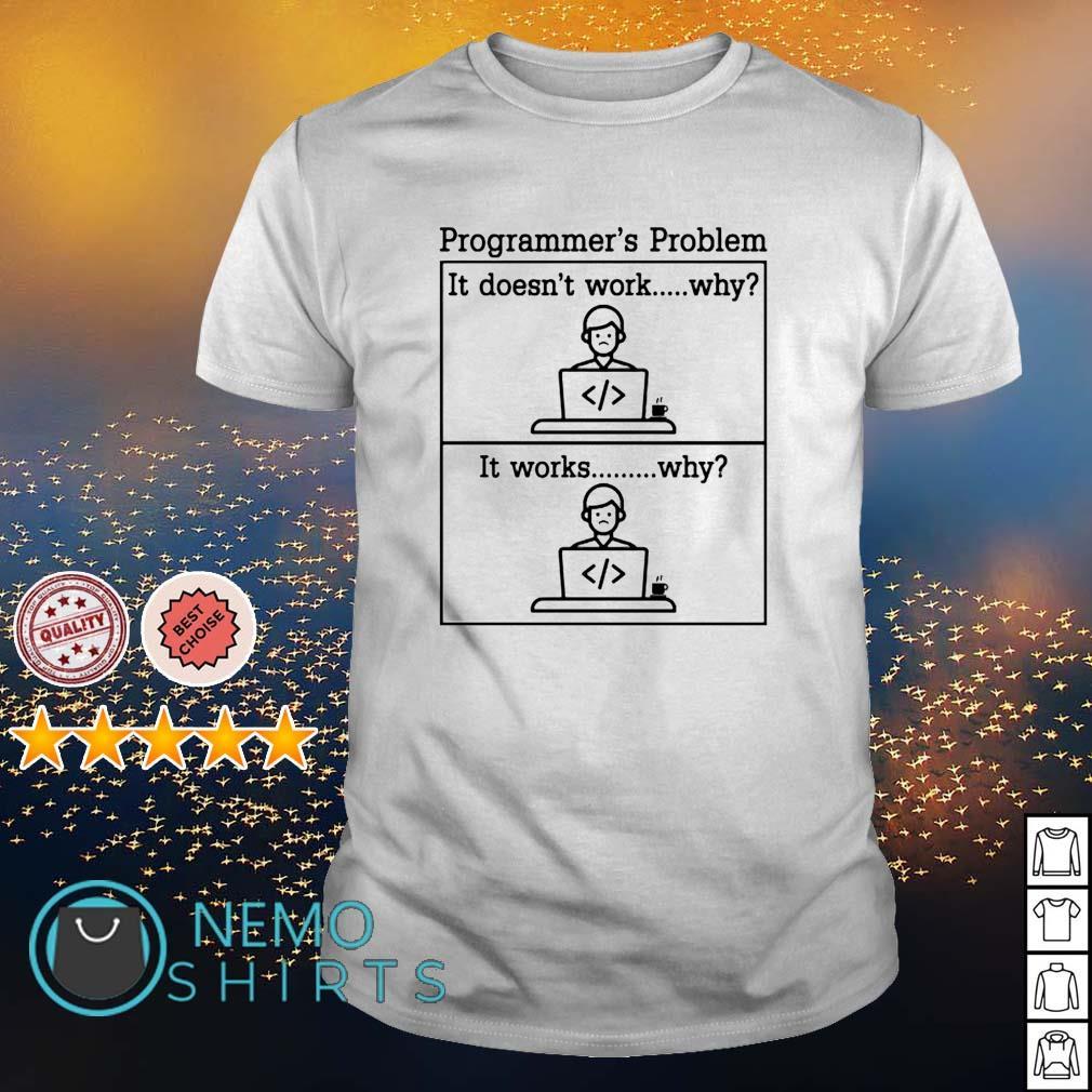 Programmer's problem it doesn't work shirt