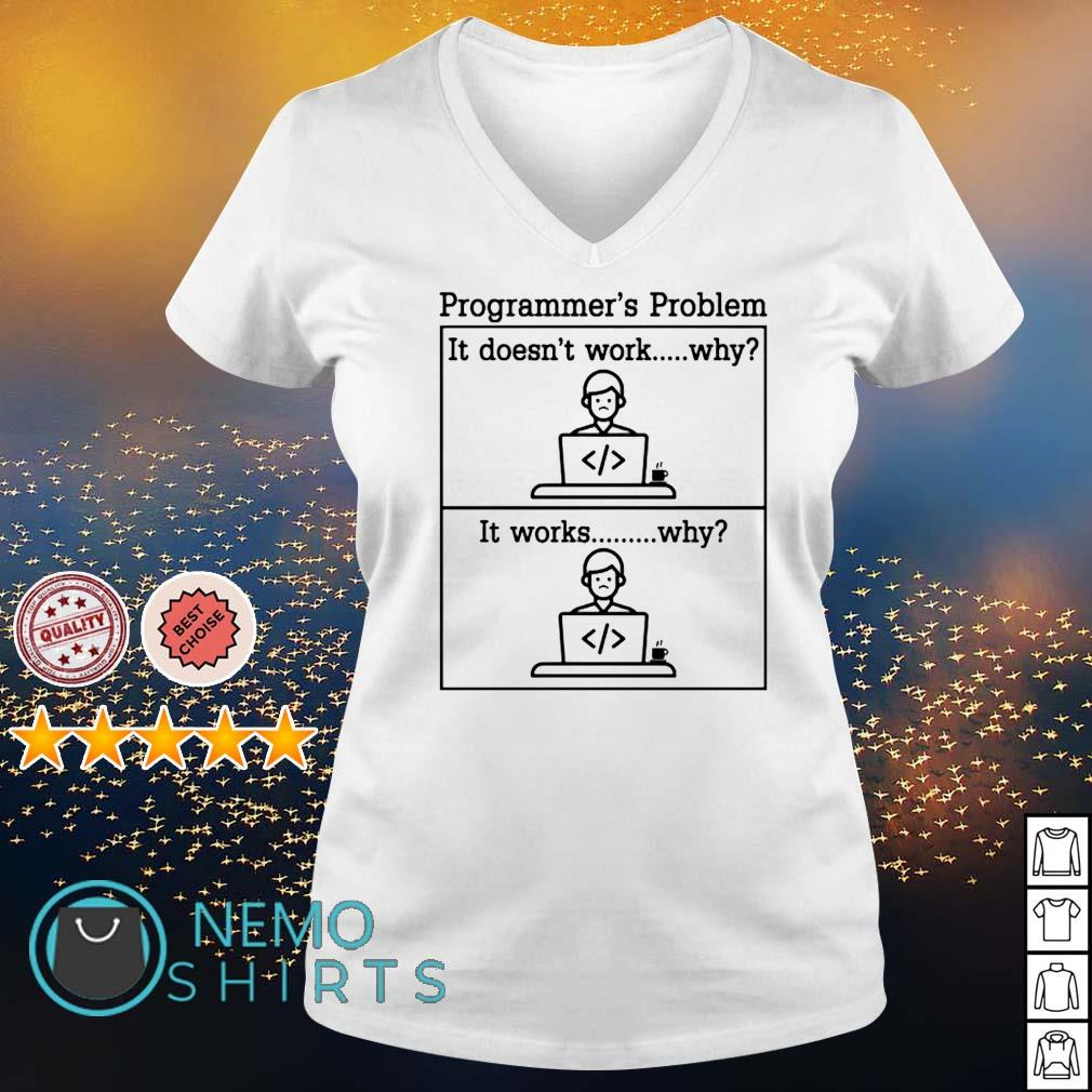 Programmer's problem it doesn't work s v-neck-t-shirt