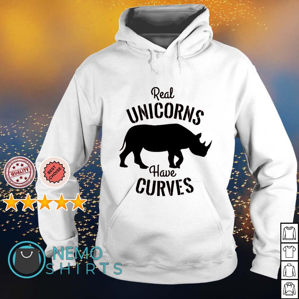 Real Unicorns have curves s hoodie