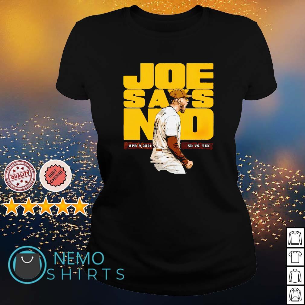 San Diego Baseball Joe Musgrove Joe Says No s ladies-tee