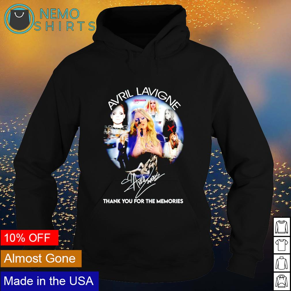 Avril Lavigne thank you for the memories signature s hoodie