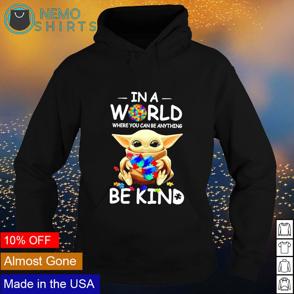 Baby Yoda LGBT in a world where you can be anything be kind s hoodie