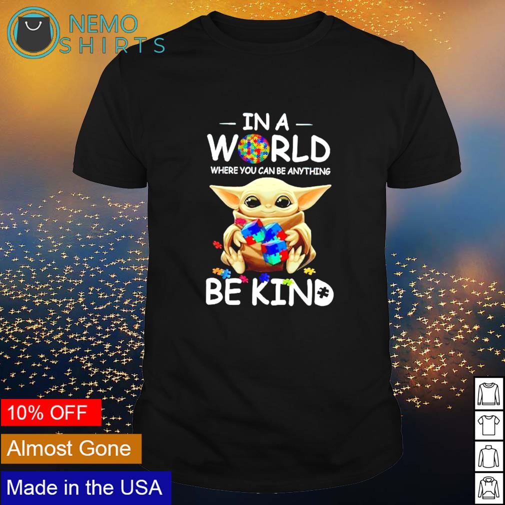 Baby Yoda LGBT in a world where you can be anything be kind shirt