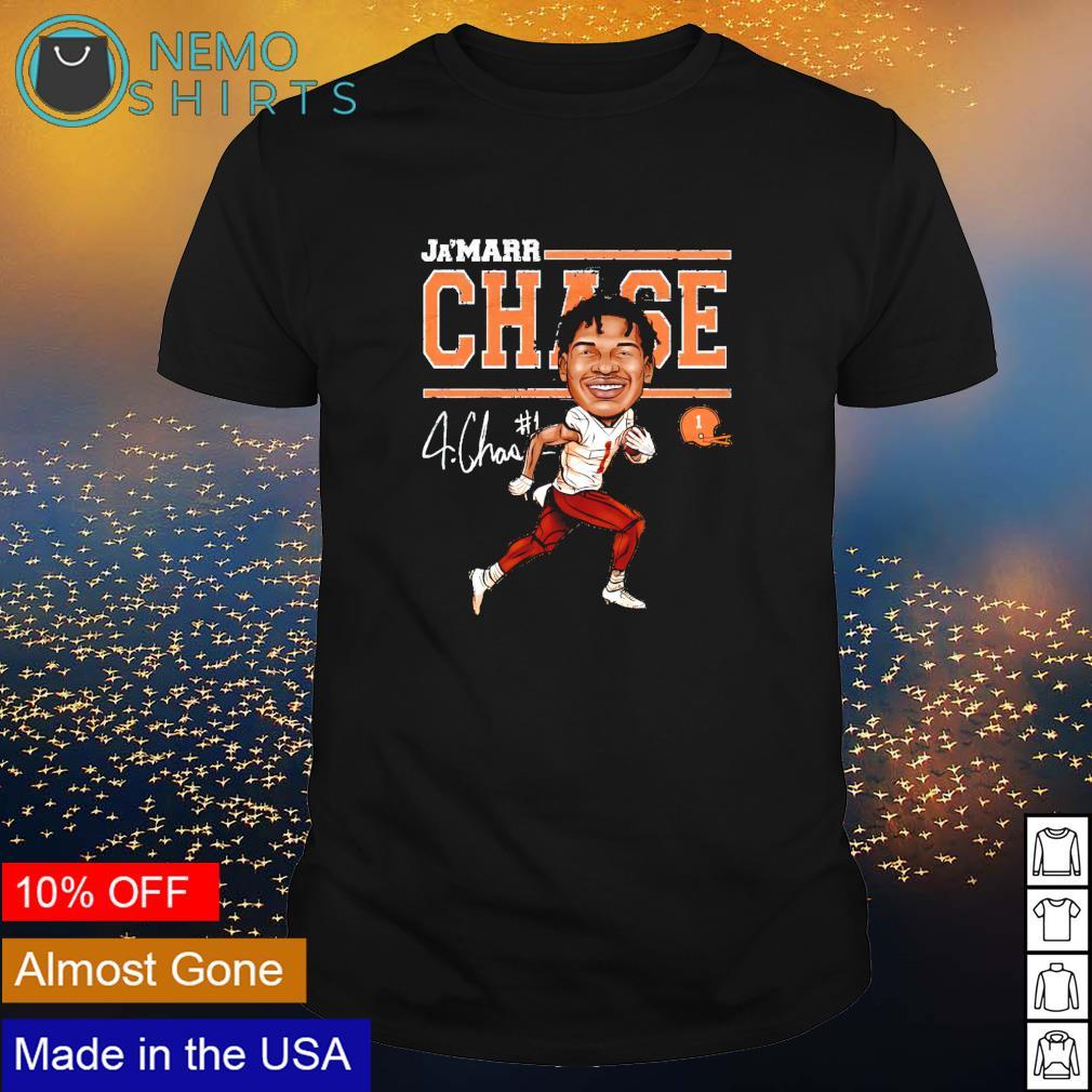 Cincinnati Football Ja'Marr Chase Cartoon signature shirt