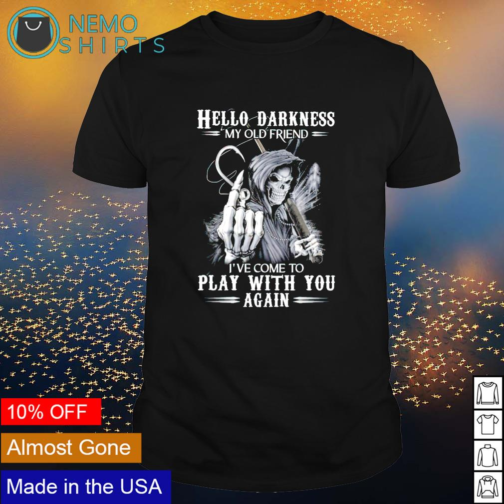 Devil fishing hello darkness my old friend I've come to play with you shirt
