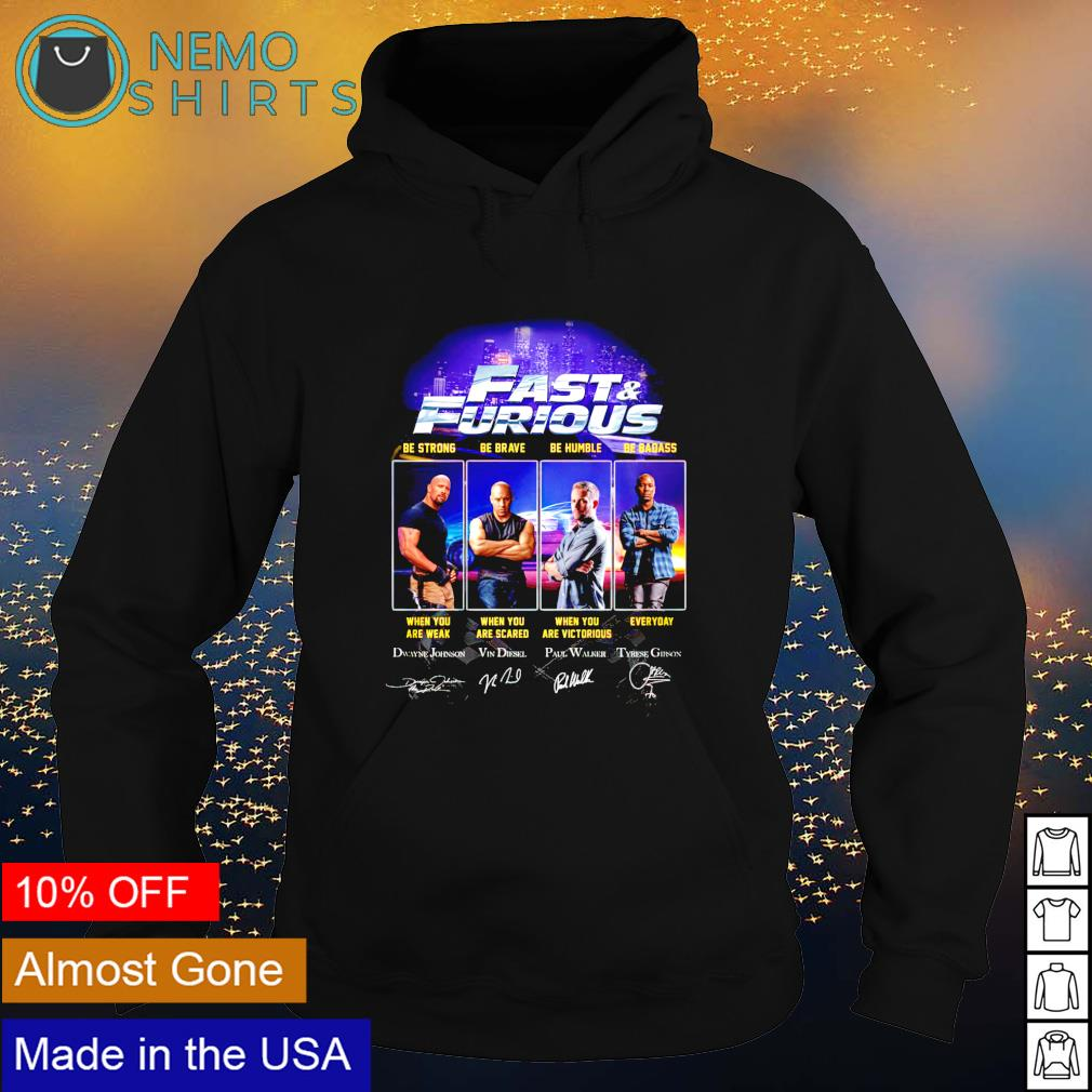 Fast and Furious characters signature s hoodie