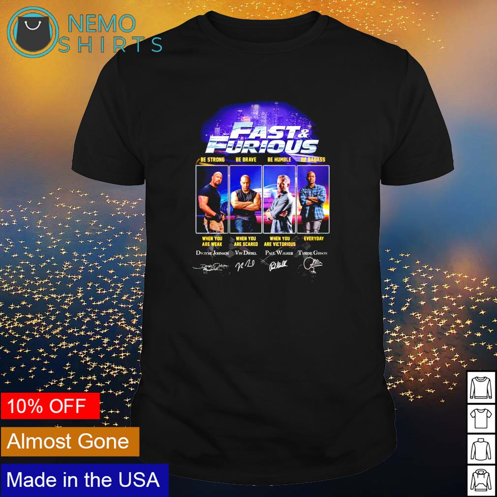 Fast and Furious characters signature shirt