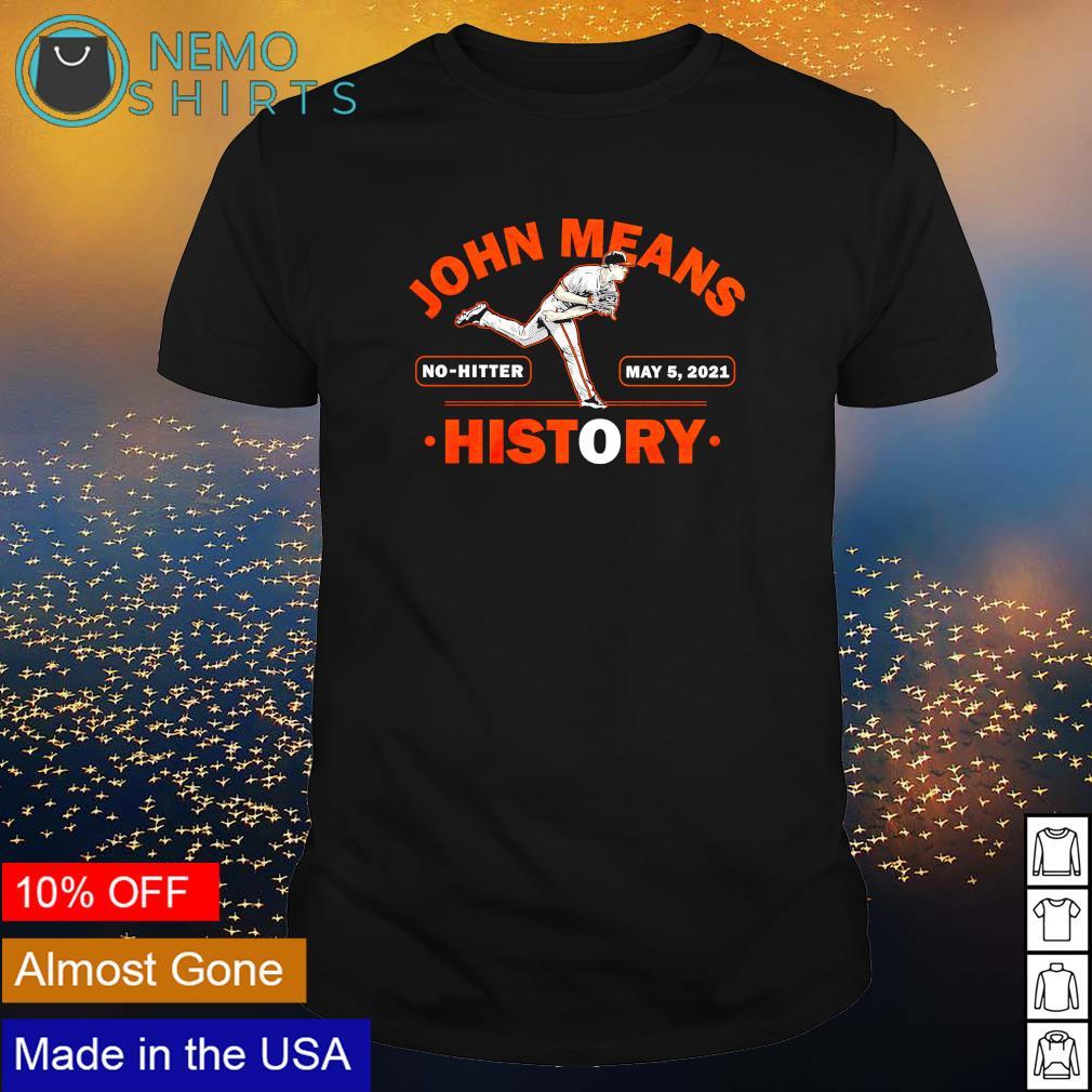John Means history No-Hitter shirt