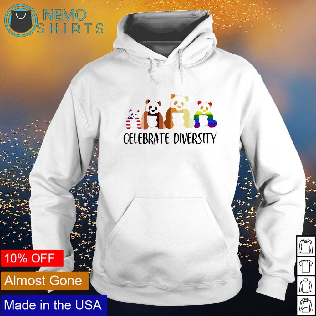 LGBT Panda celebrate diversity s hoodie