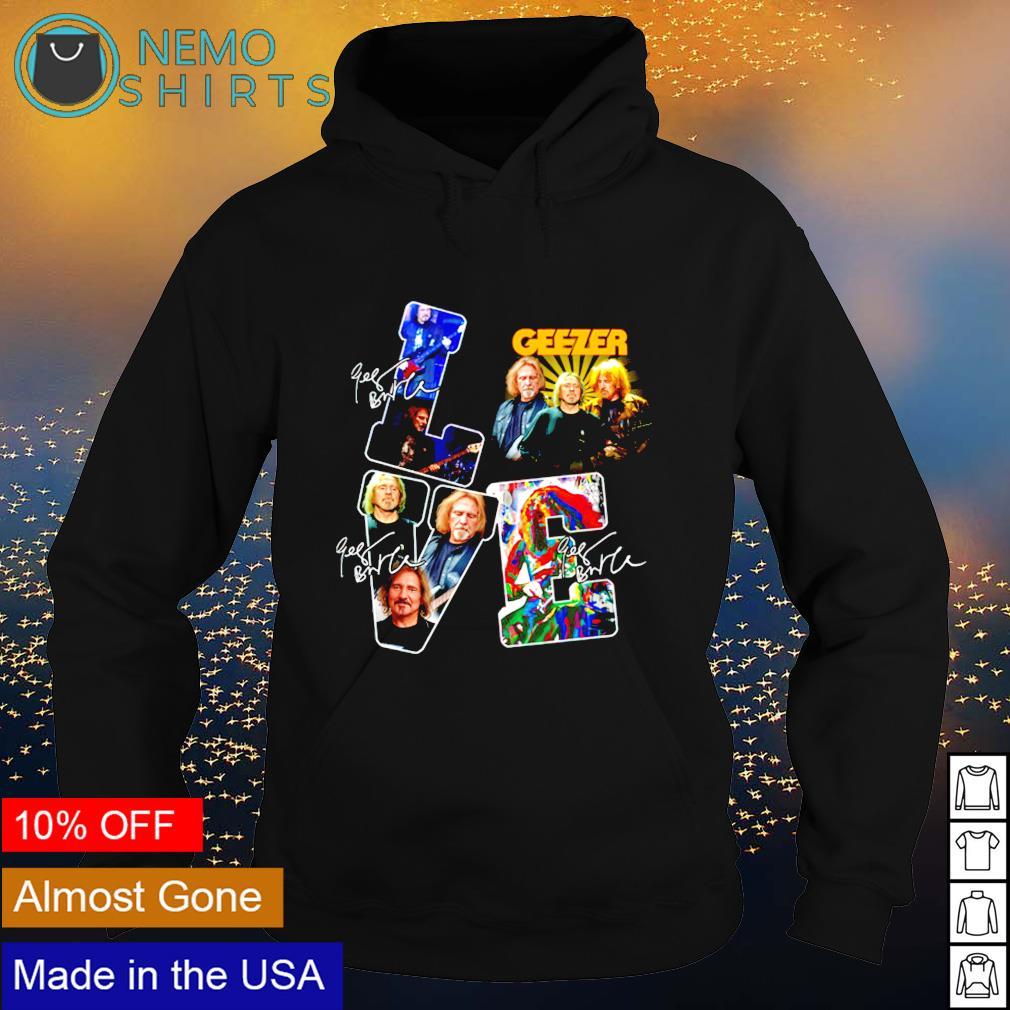 Love Geezer members signature s hoodie