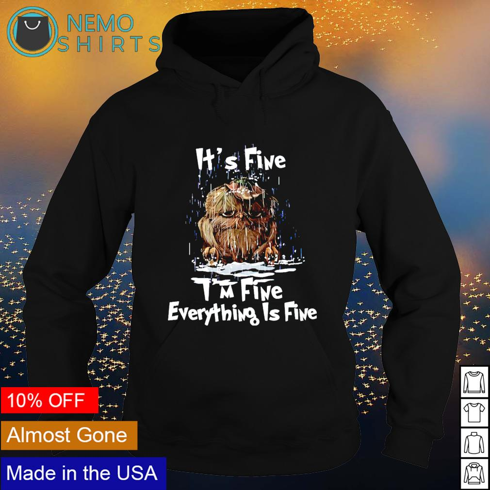 Owl rain it's fine I'm fine everything is fine s hoodie