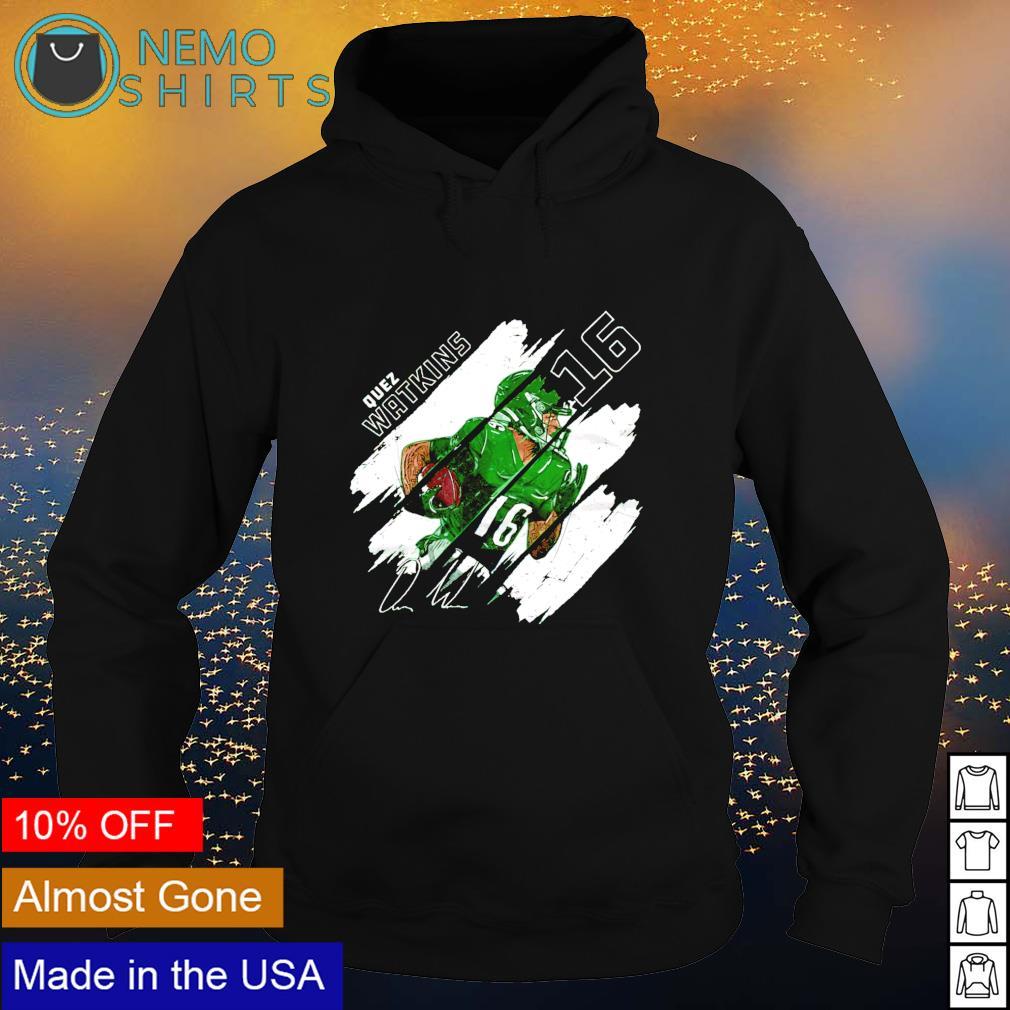 Philadelphia Football 16 Quez Watkins Stripes signature s hoodie