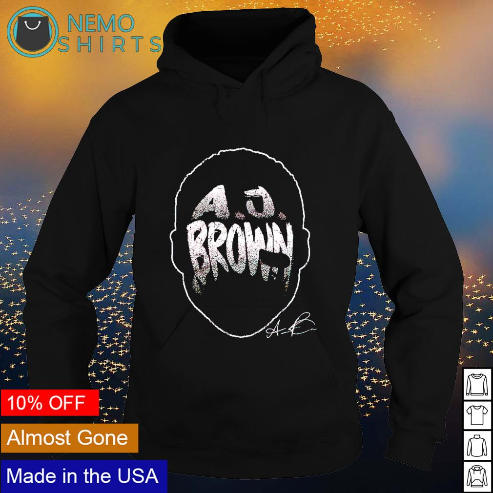 Tennessee Football A.J. Brown Player Silhouette signature s hoodie