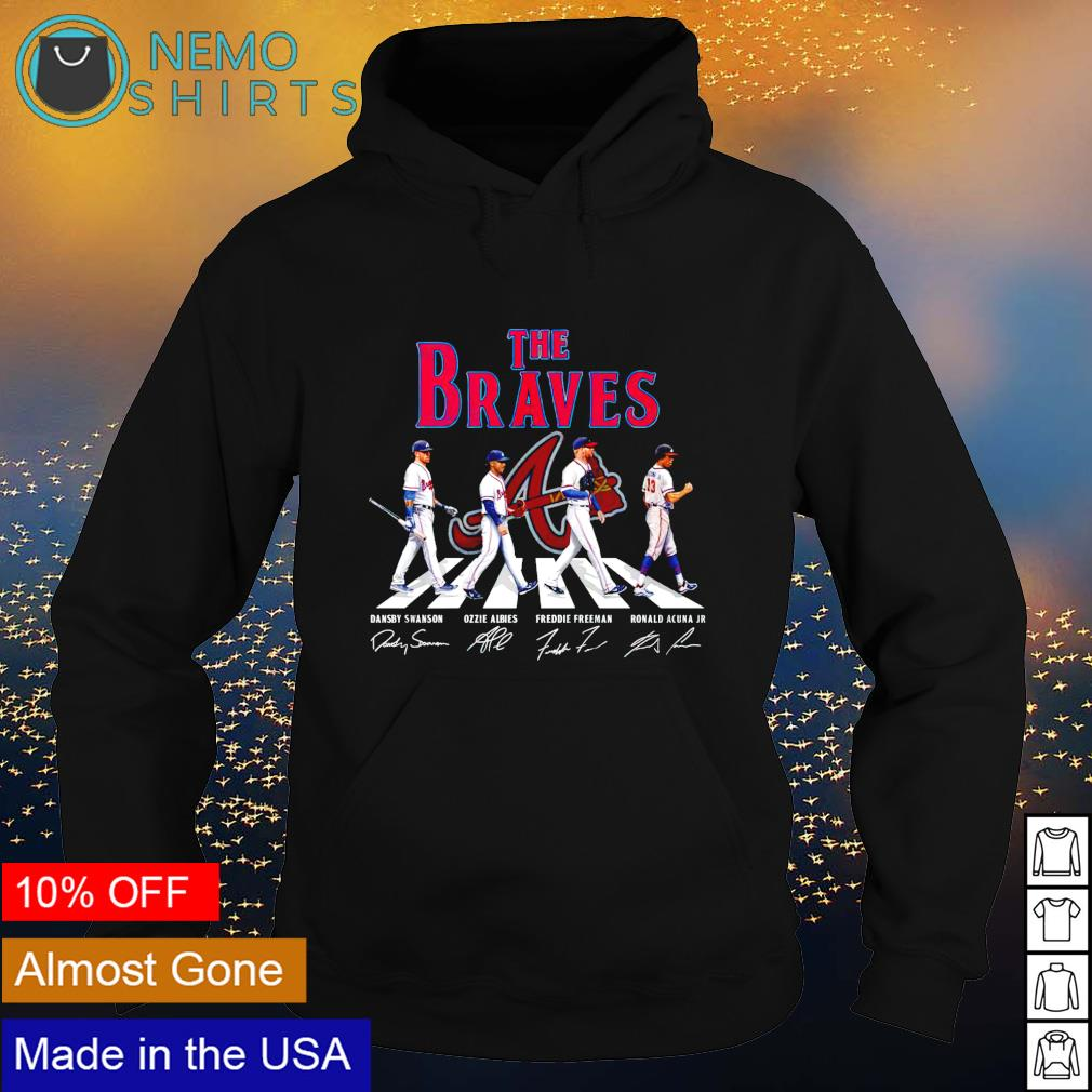 The Braves mashup The Beatles Abbey Road signatures s hoodie