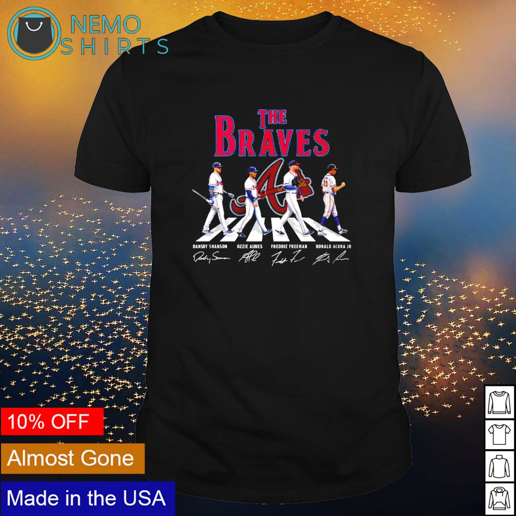 The Braves mashup The Beatles Abbey Road signatures shirt