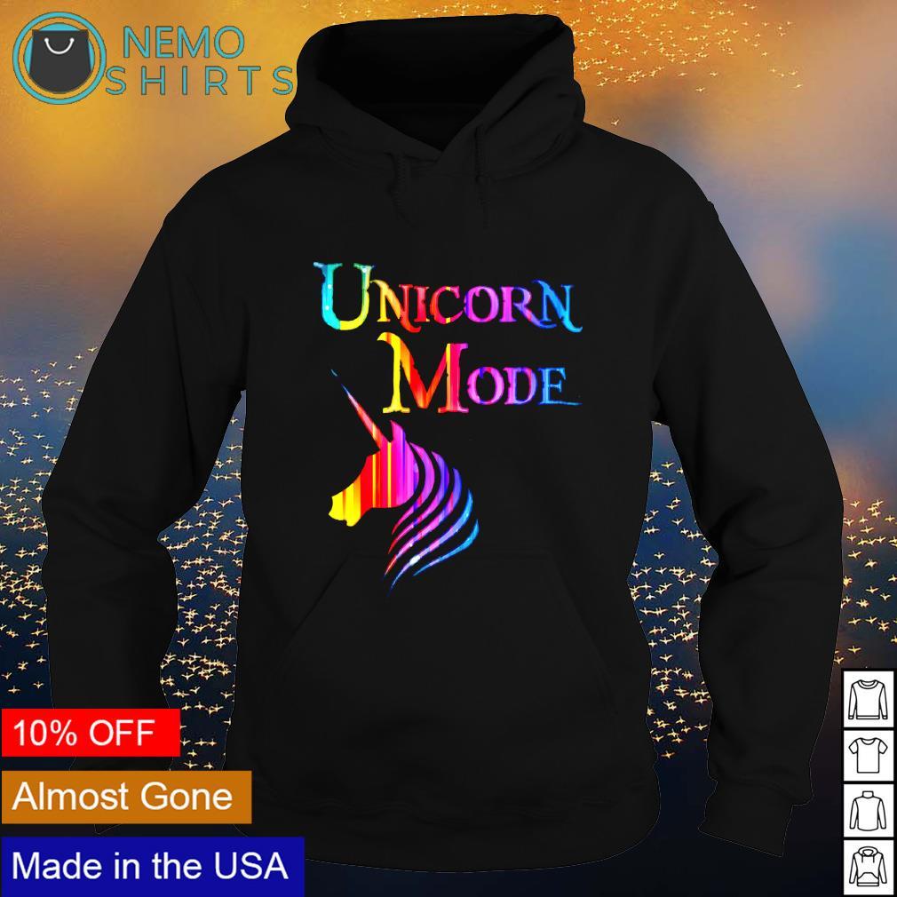 Unicorn Mode s hoodie