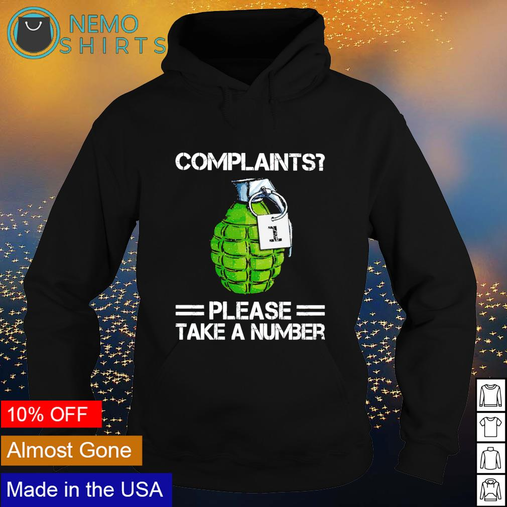 Veteran complaints please take a number s hoodie