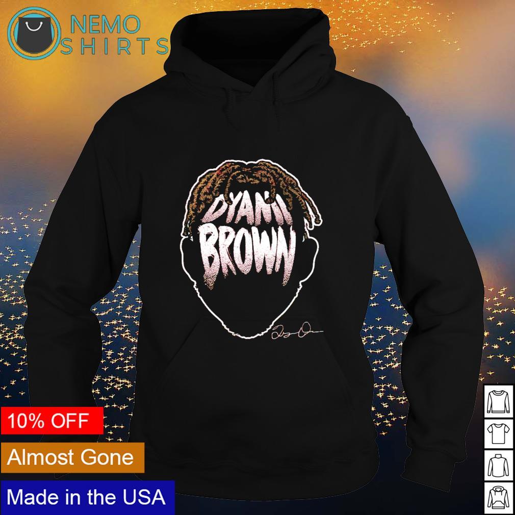 Washington Football Dyami Brown Player Silhouette signature s hoodie