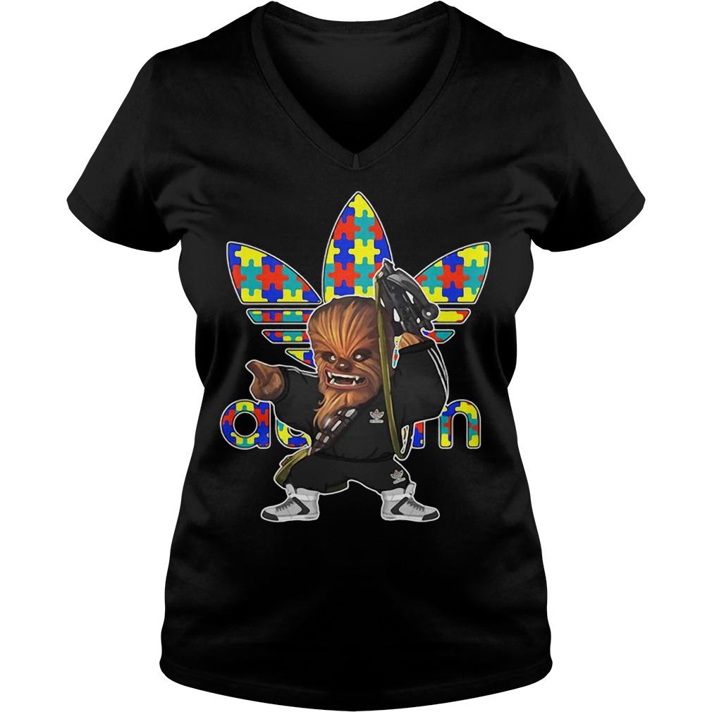 Chewbacca adidas autism V-neck t-shirt