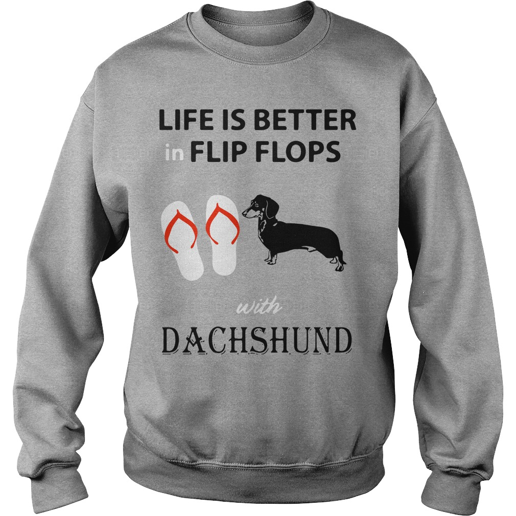 Life is better in flip flops with Dachshund Sweater