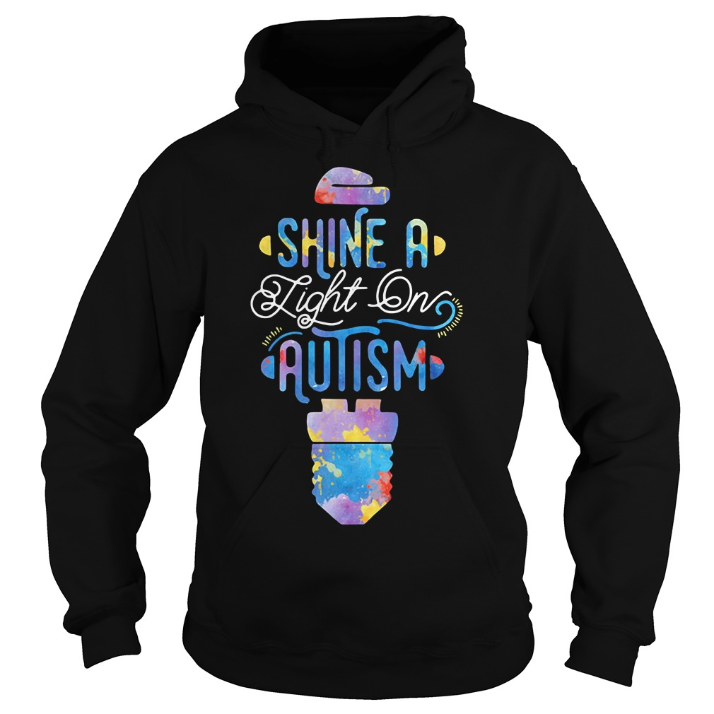 Shine a light on autism Hoodie