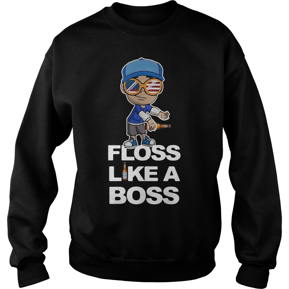 America flag Busch Light floss like a boss Sweater