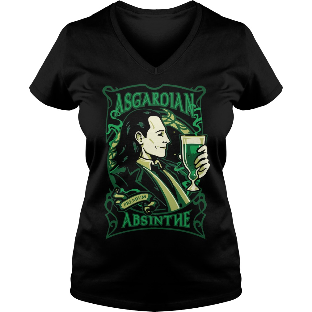 Asgardian Absinthe Loki Marvel Movie V-neck t-shirt