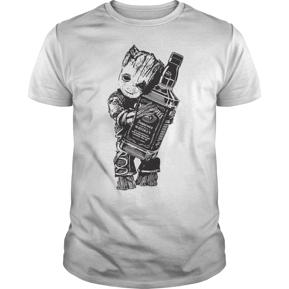 Baby Groot hug Jack Daniel's Tennessee Whiskey shirt
