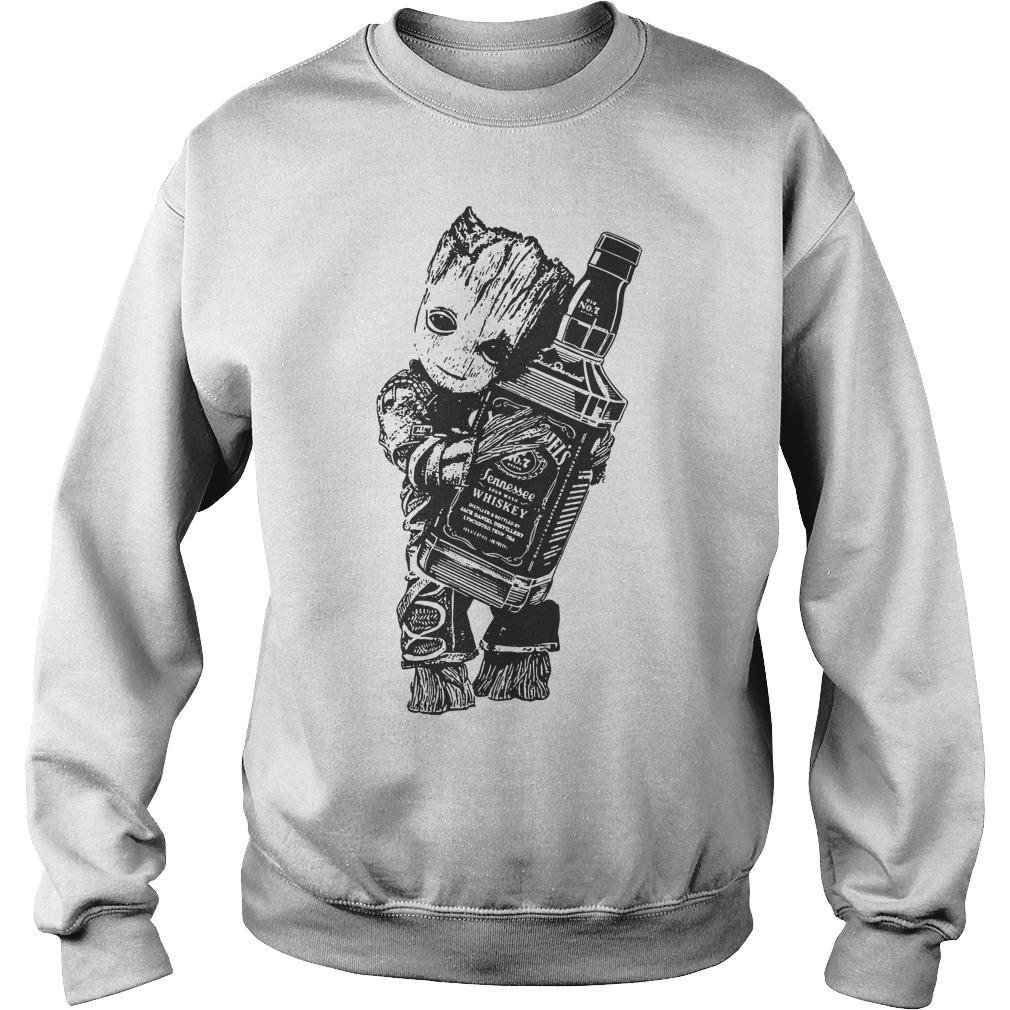 Baby Groot hug Jack Daniel's Tennessee Whiskey Sweater