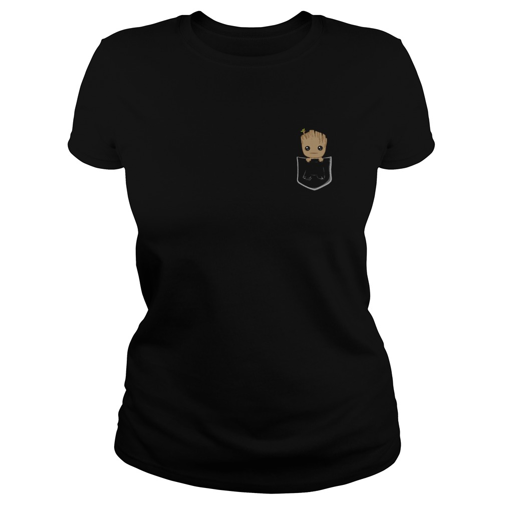 Baby Groot Pocket Ladies tee
