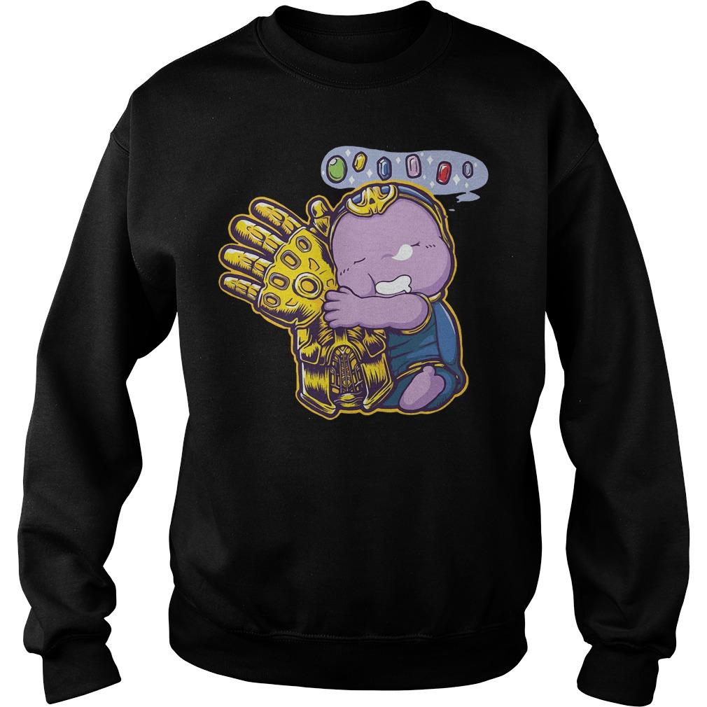 Baby Thanos Gauntlet Hand Avengers Infinity War Sweater