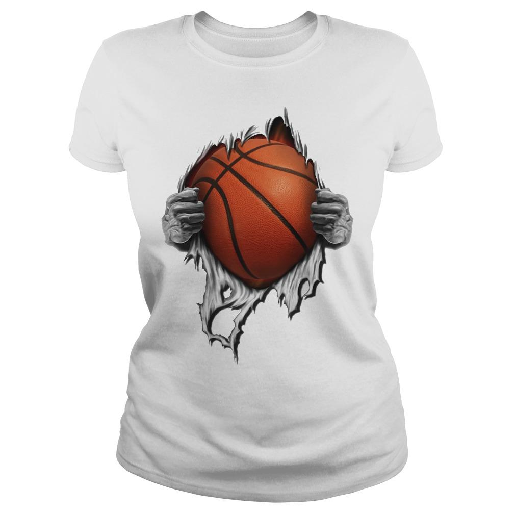 Basketball inside me Ladies tee