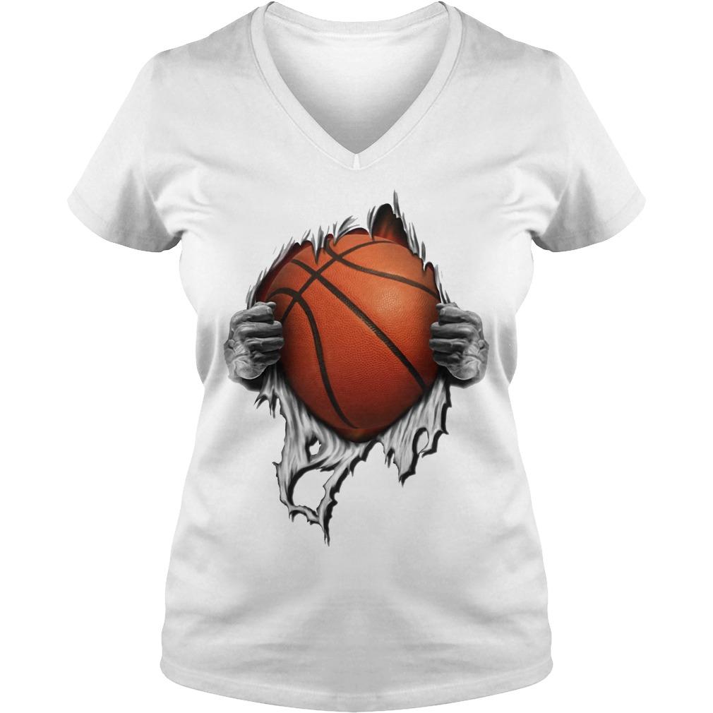 Basketball inside me V-neck t-shirt