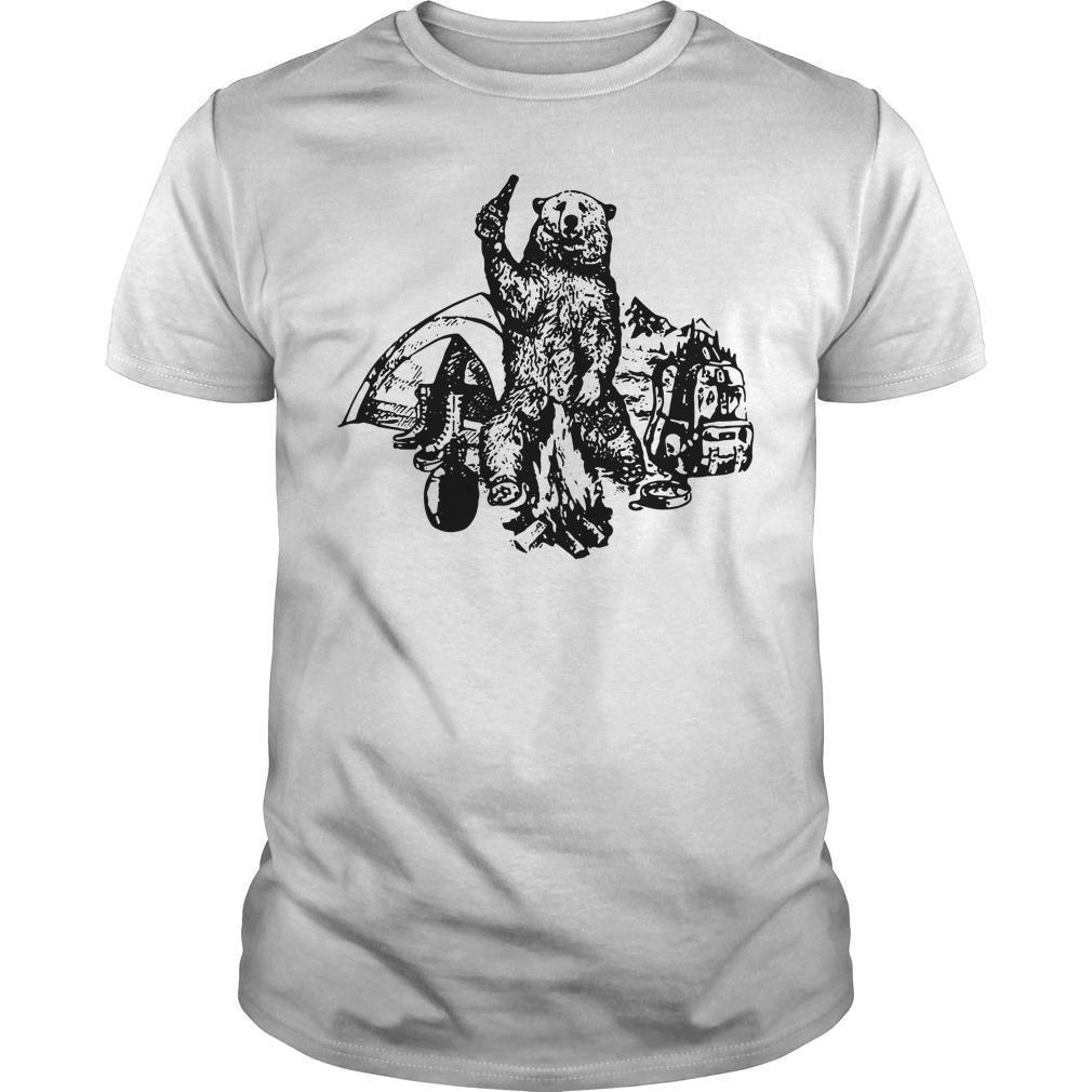 Bear camping picnic shirt