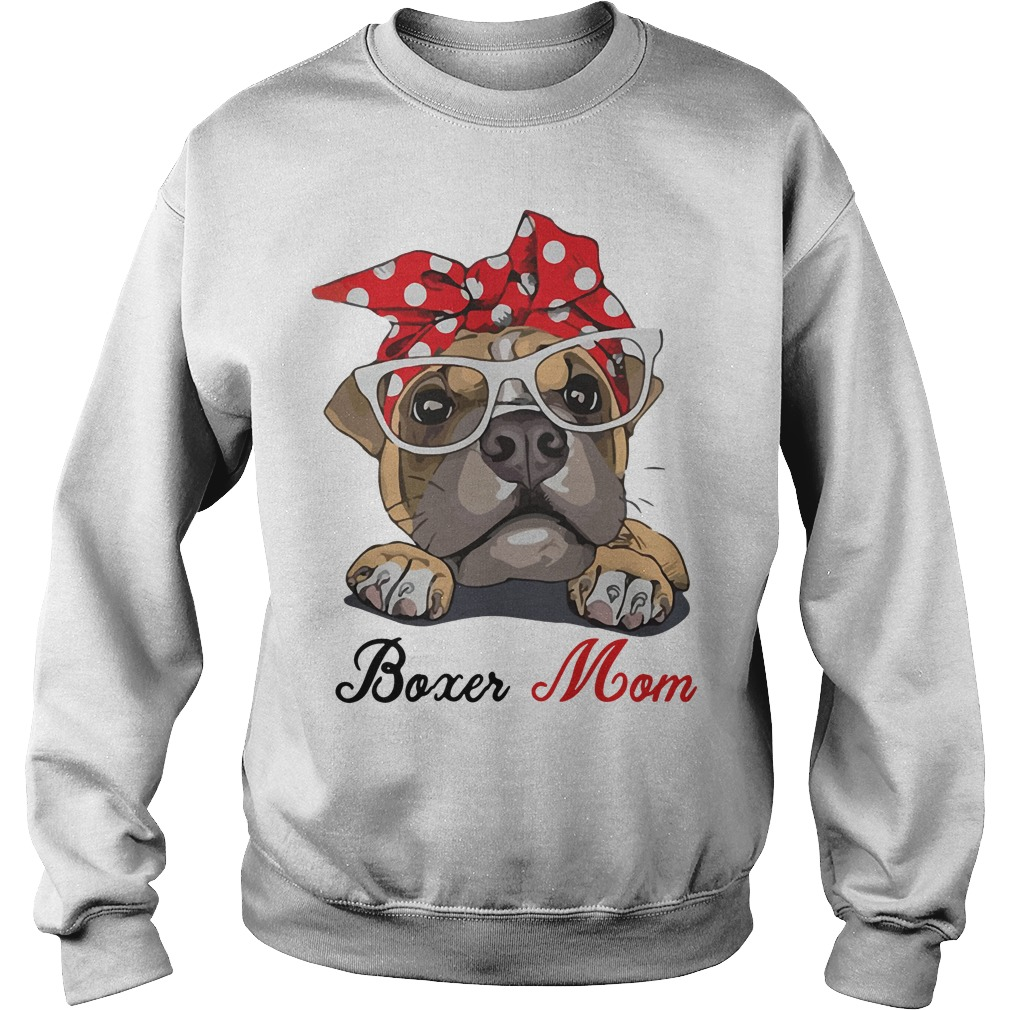 Boxer Dog Mom Sweater Gift for Mother's Day