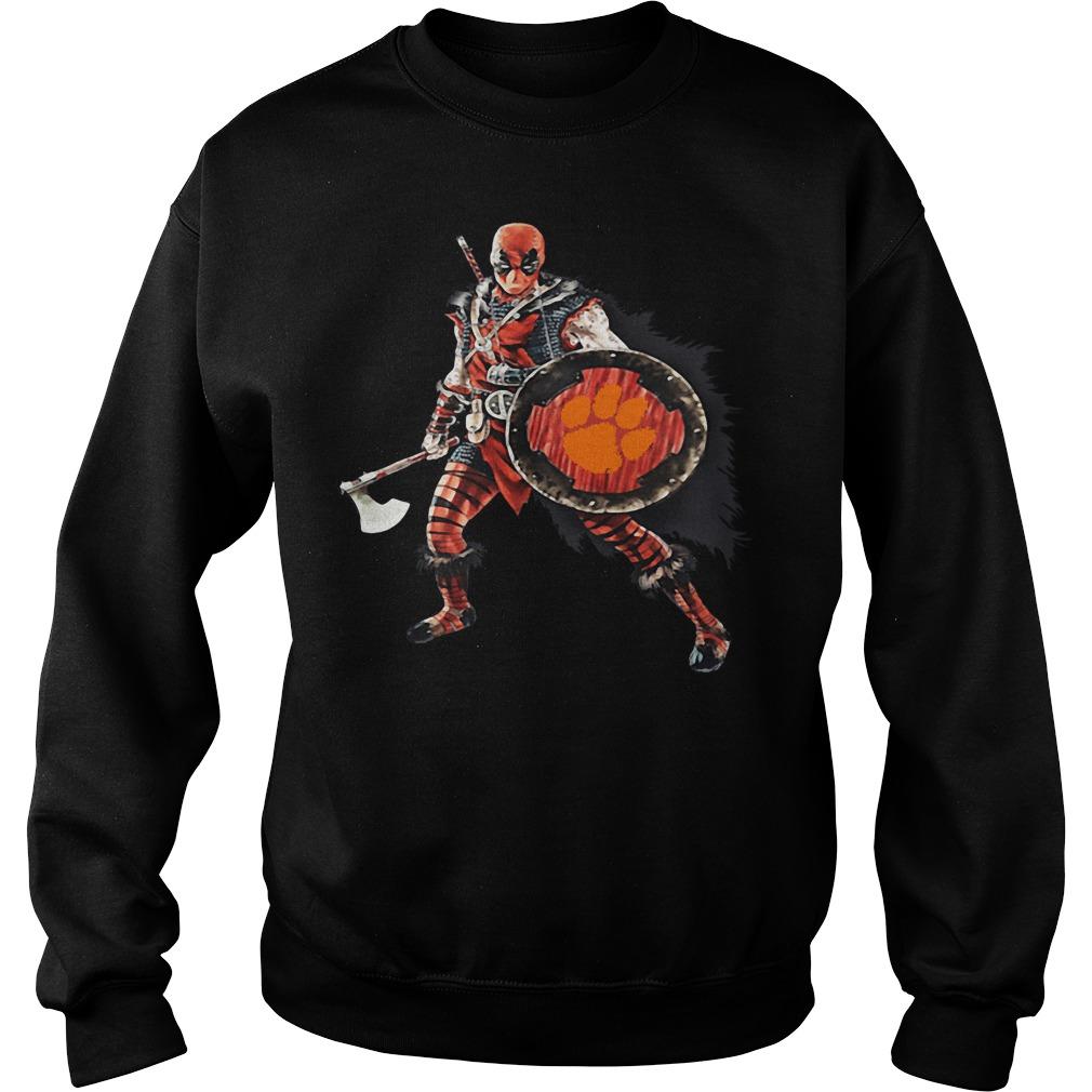 Deadpool Viking Clemson Tigers Sweater