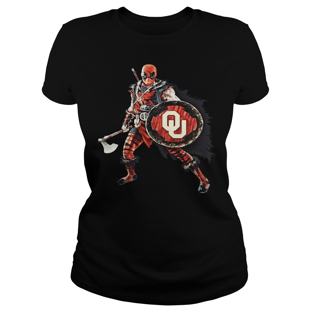 Deadpool Viking Oklahoma Sooners Ladies Tee