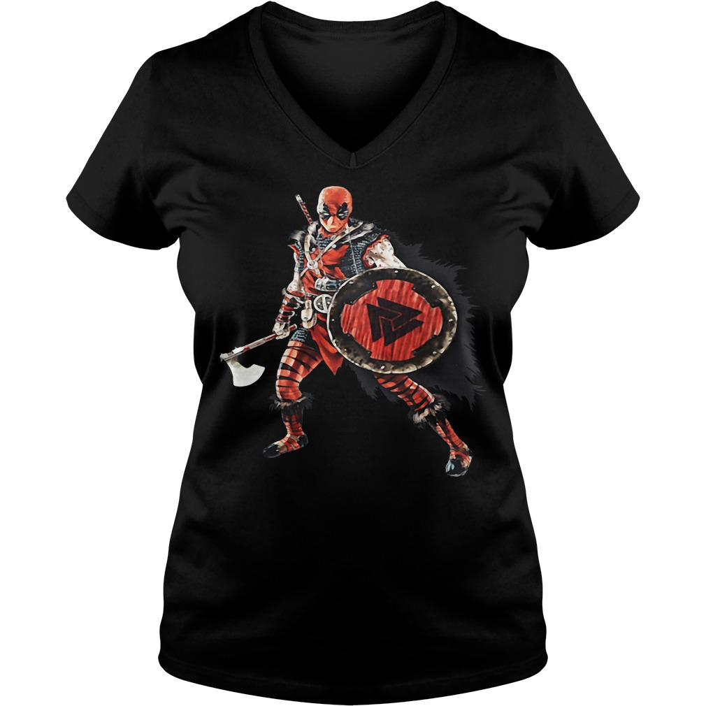 Deadpool Viking V-neck t-shirt