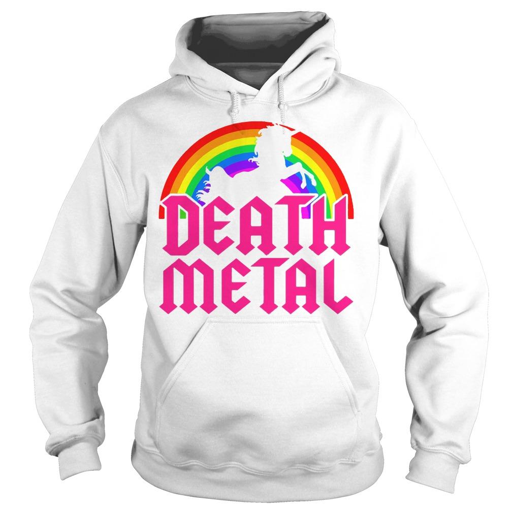 Death Metal Unicorn Rainbow Hoodie