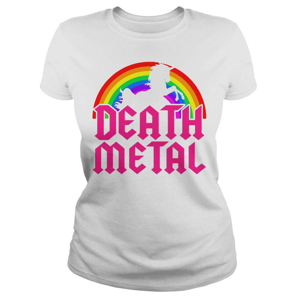 Death Metal Unicorn Rainbow shirt