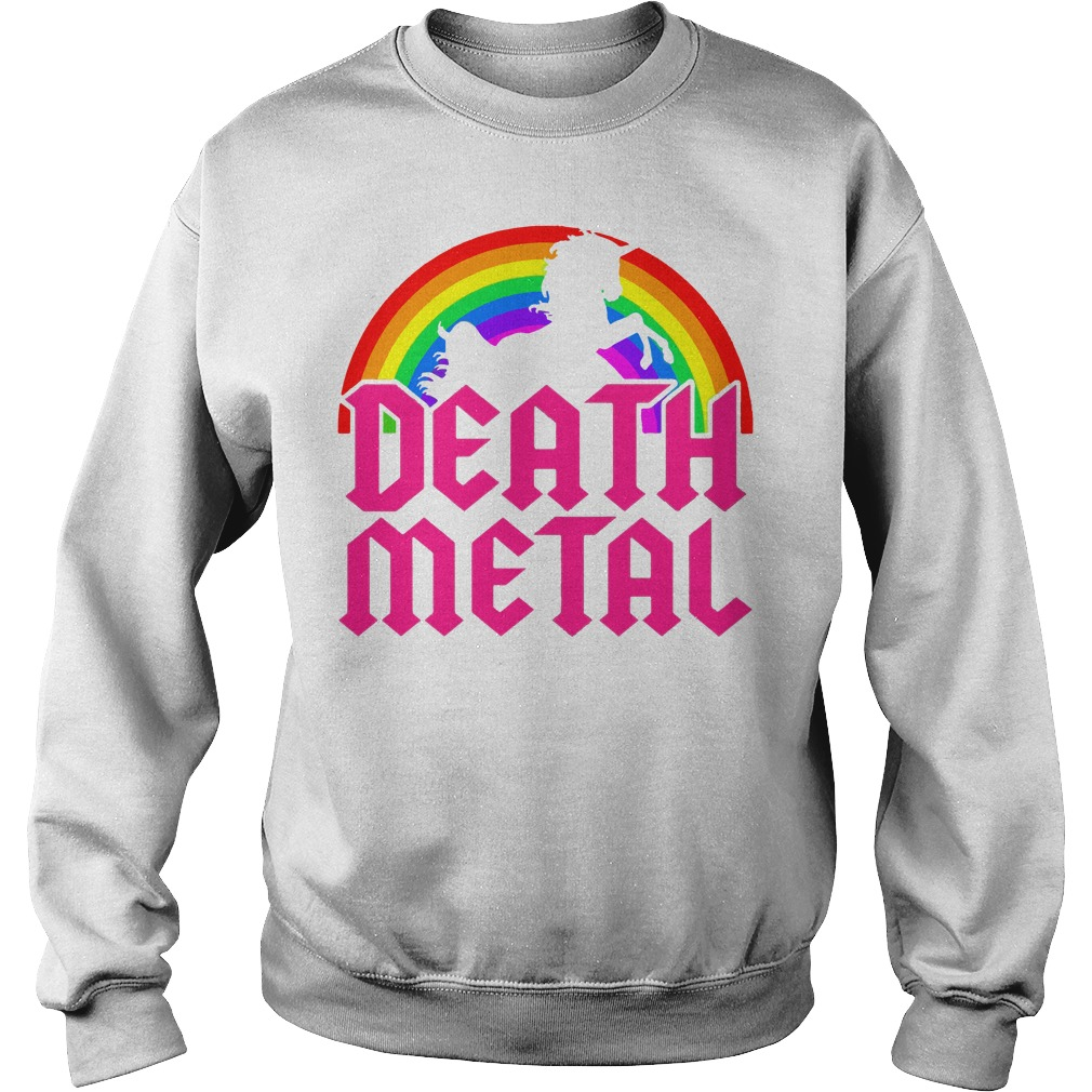 Death Metal Unicorn Rainbow Sweater