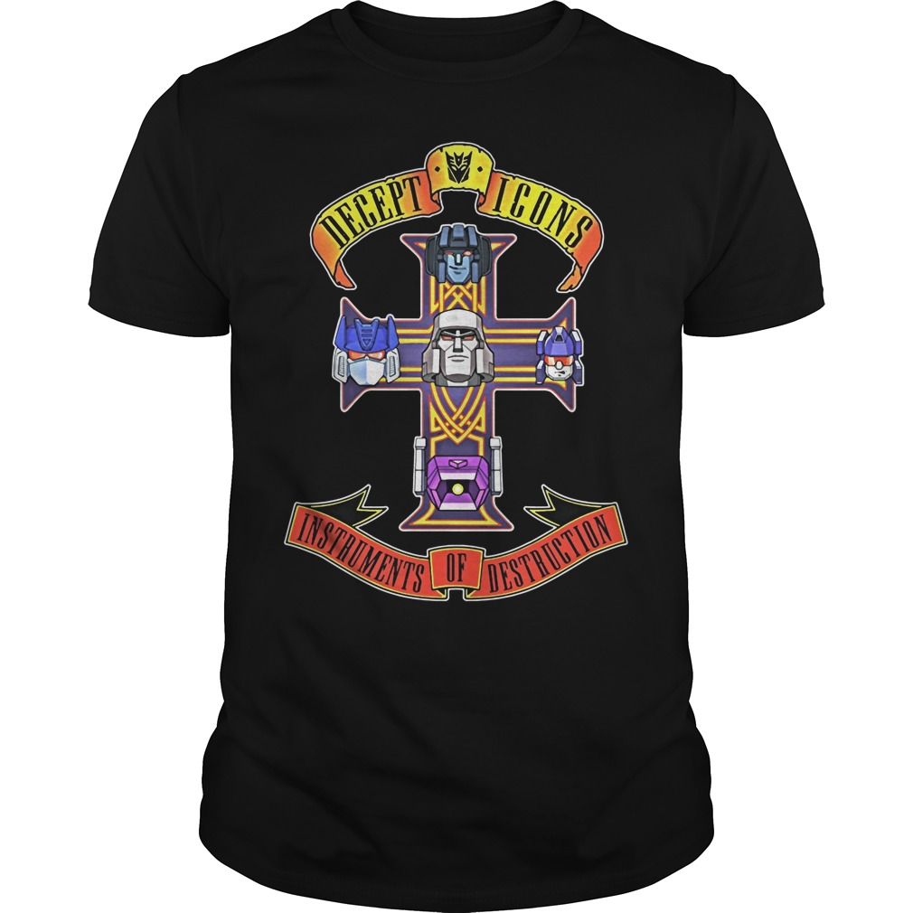 Decept Icons instruments of destruction shirt