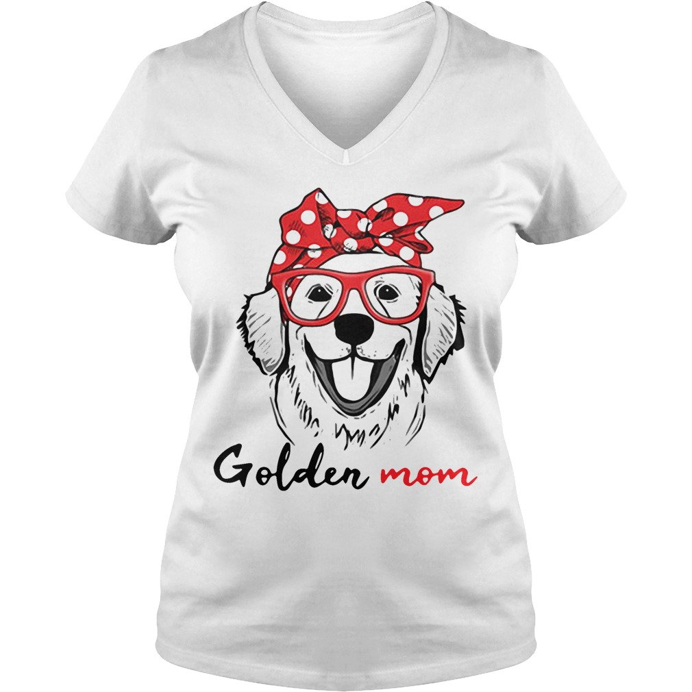 Dog mom - Golden mom V-neck t-shirt