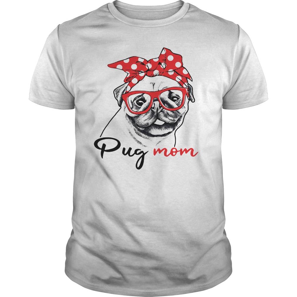 Dog mom - Pug mom Guys shirt