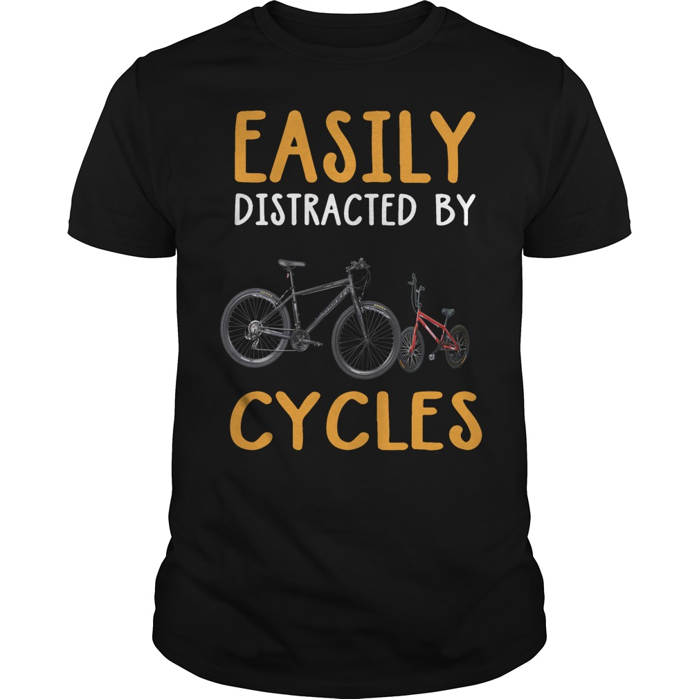 Easily distracted by cycles shirt