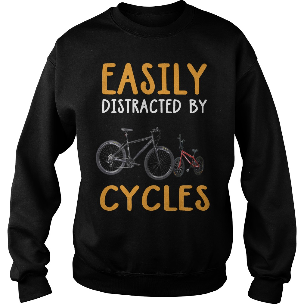 Easily distracted by cycles Sweater