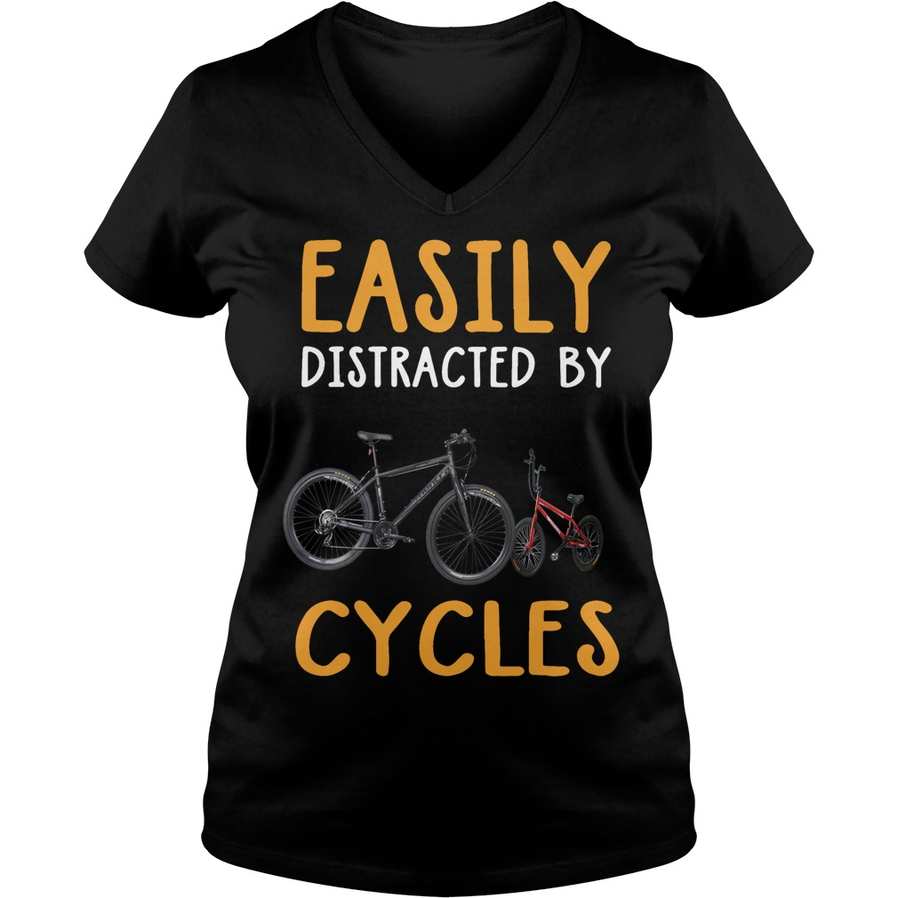 Easily distracted by cycles V-neck t-shirt